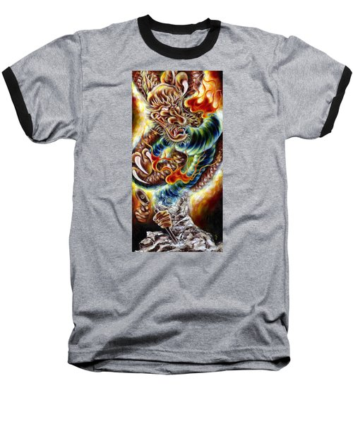 Baseball T-Shirt featuring the painting Power Of Spirit by Hiroko Sakai