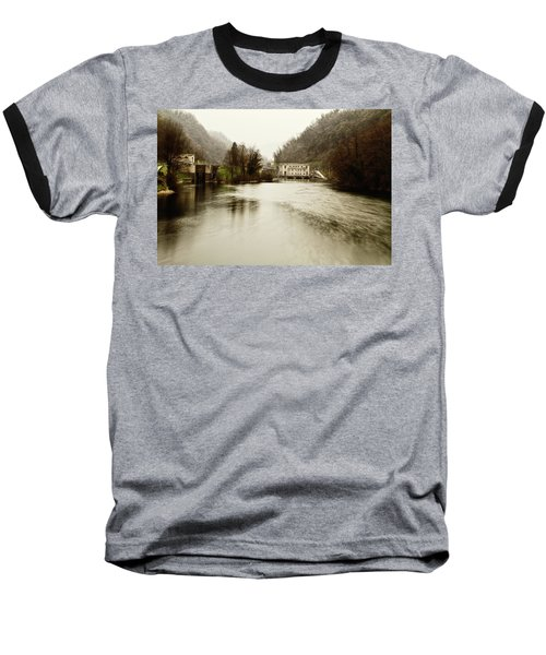 Power Plant On River Baseball T-Shirt