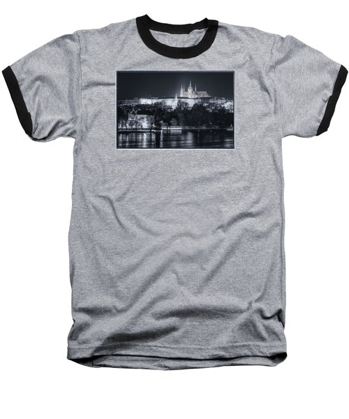 Prague Castle At Night Baseball T-Shirt