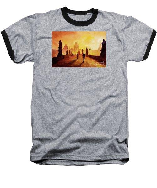 Prague Sunrise Baseball T-Shirt by Ryan Fox