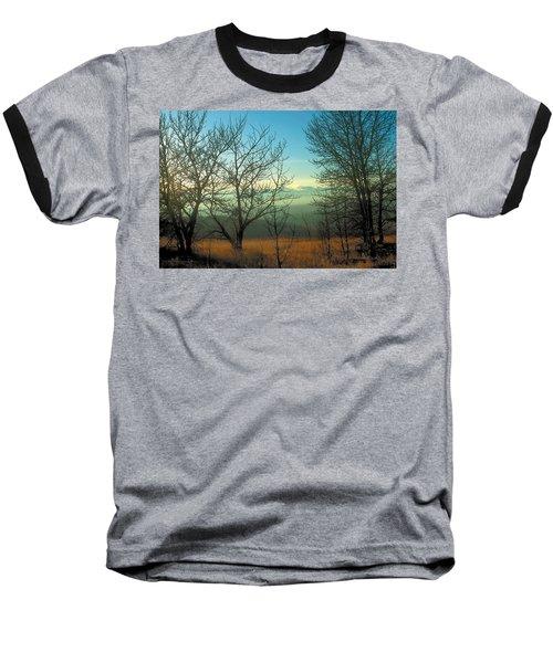 Prairie Autumn 2 Baseball T-Shirt by Terry Reynoldson