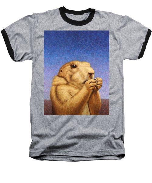 Prairie Dog Baseball T-Shirt by James W Johnson