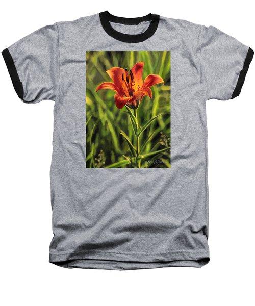 Prairie Lily Baseball T-Shirt by Bruce Morrison