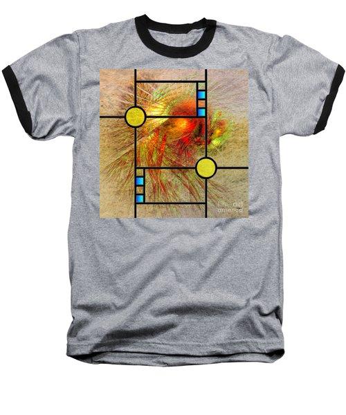 Prairie View - Square Version Baseball T-Shirt by John Robert Beck