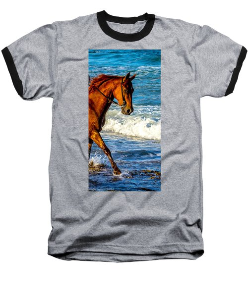 Prancing In The Sea Baseball T-Shirt by Shannon Harrington