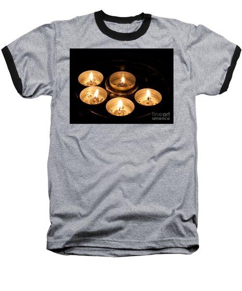 Prayer Candles In Notre Dame Baseball T-Shirt