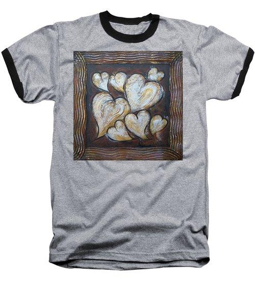 Precious Hearts 301110 Baseball T-Shirt by Selena Boron
