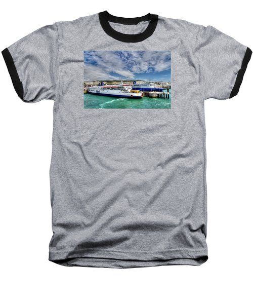 Preparing To Cross The Channel Baseball T-Shirt by Tim Stanley