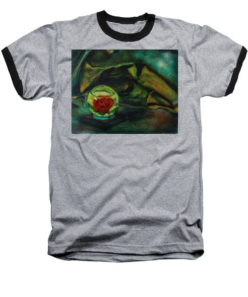 Preserved Rose . . Draped Canvas Baseball T-Shirt by Sean Connolly