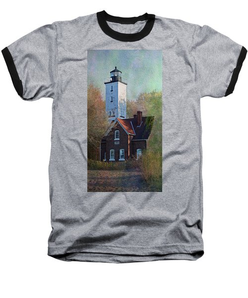 Presque Isle Lighthouse Baseball T-Shirt