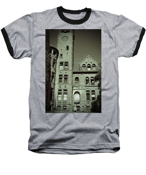 Preston Castle Tower Baseball T-Shirt