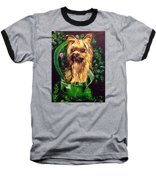 Baseball T-Shirt featuring the painting Pretty Bambi by Belinda Low