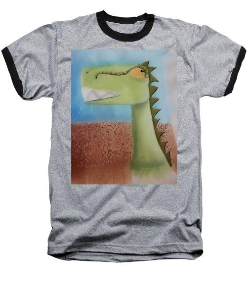 Dinoart Raptor Baseball T-Shirt by Joshua Maddison