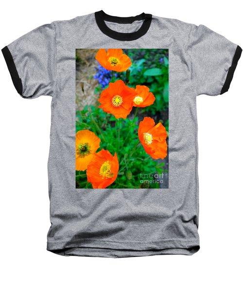 Pretty In Orange Baseball T-Shirt by Jacqueline Athmann