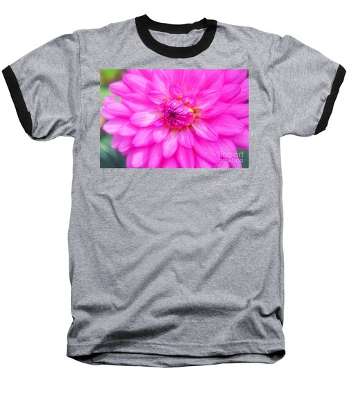 Pretty In Pink Dahlia Baseball T-Shirt