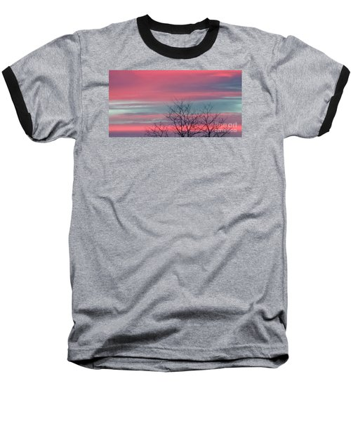 Pretty In Pink Sunrise Baseball T-Shirt
