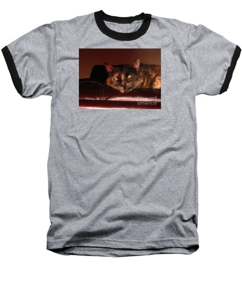Baseball T-Shirt featuring the photograph Pretty Kitty by Oksana Semenchenko