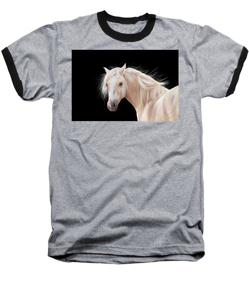 Pretty Palomino Pony Painting Baseball T-Shirt