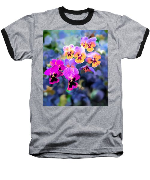 Pretty Pansies 3 Baseball T-Shirt by Bruce Nutting
