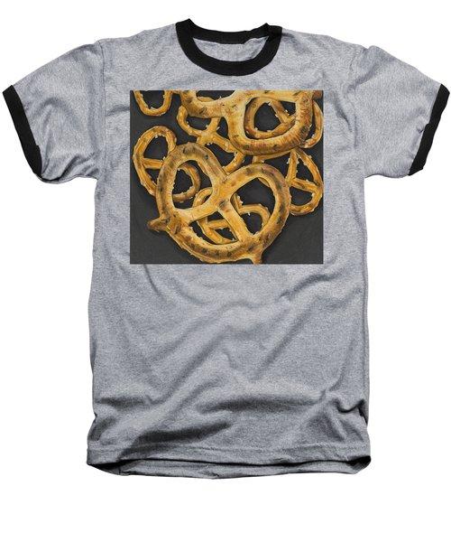 Baseball T-Shirt featuring the drawing Pretzels Study by Jennifer Hotai