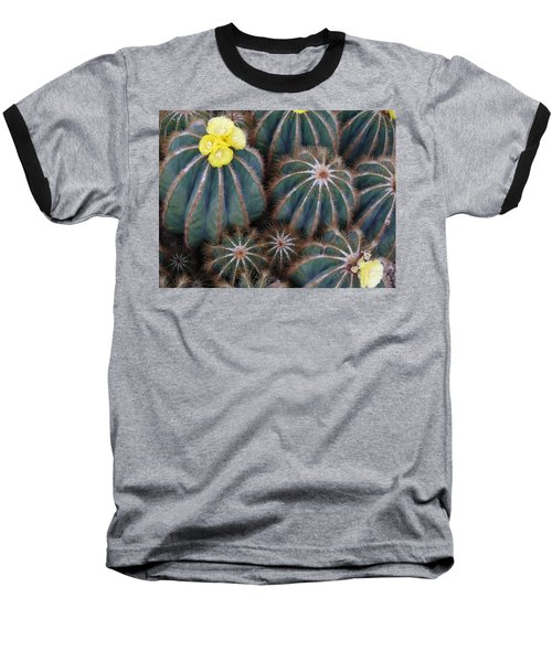 Prickly Beauties Baseball T-Shirt by Evelyn Tambour