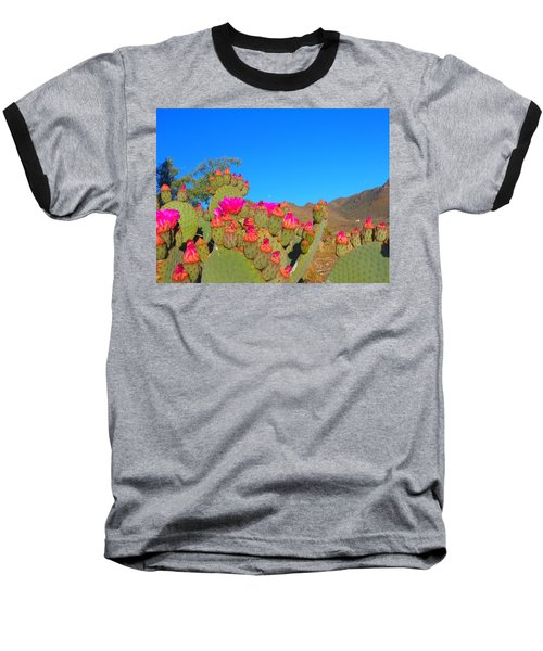 Prickly Pear Blooming Baseball T-Shirt