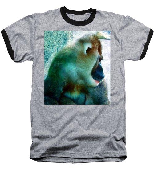 Baseball T-Shirt featuring the photograph Primate 1 by Dawn Eshelman