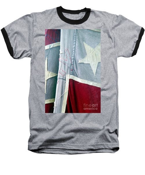 Primitive Flag Baseball T-Shirt by Valerie Reeves