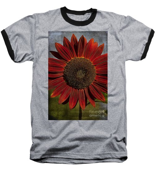 Primitive Sunflower 2 Baseball T-Shirt