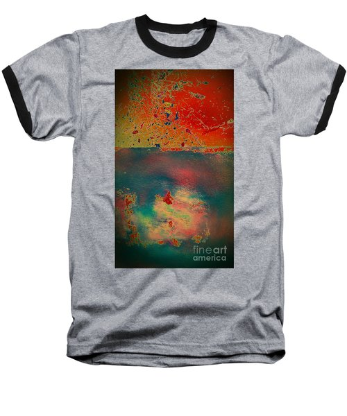 Baseball T-Shirt featuring the painting Primordial by Jacqueline McReynolds