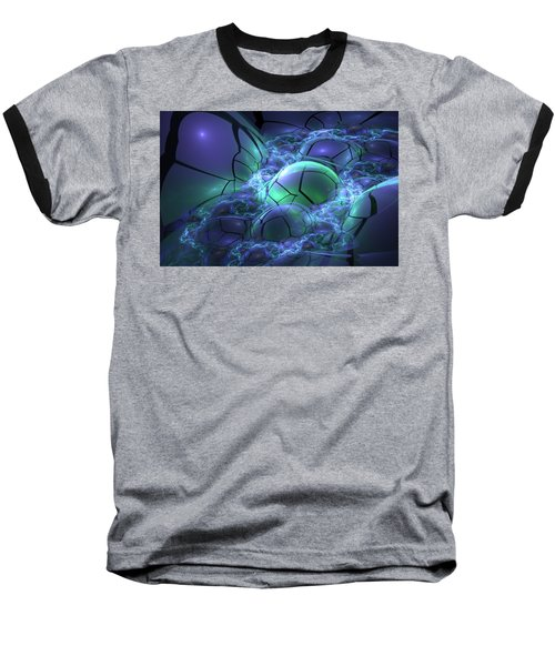 Baseball T-Shirt featuring the digital art Primordial Soup  by Svetlana Nikolova