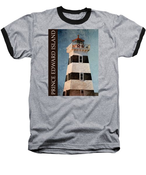 Baseball T-Shirt featuring the photograph Prince Edward Island Lighthouse by WB Johnston