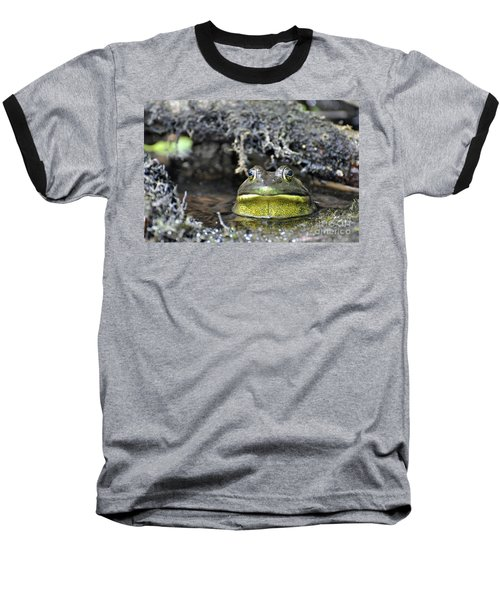 Baseball T-Shirt featuring the photograph Bullfrog by Glenn Gordon