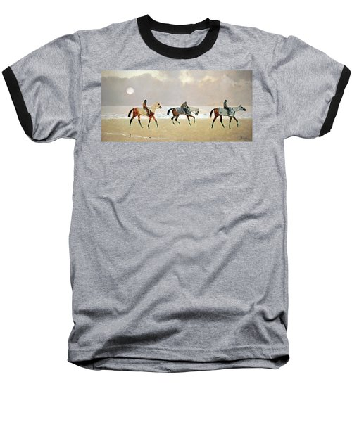 Princeteau's Riders On The Beach At Dieppe Baseball T-Shirt