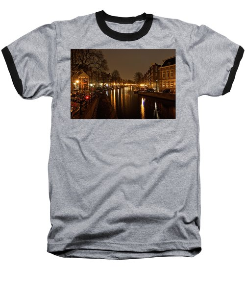 Prinsengracht Canal After Dark Baseball T-Shirt