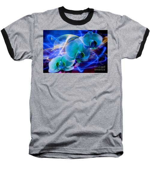 Baseball T-Shirt featuring the photograph Prismatic Orchid Swirl by Judy Palkimas