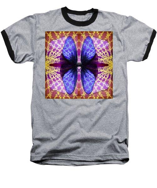 Baseball T-Shirt featuring the digital art Prisoner Butterflies by Rosa Cobos