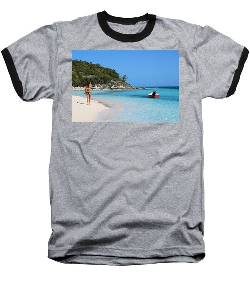 Private Beach Bahamas Baseball T-Shirt