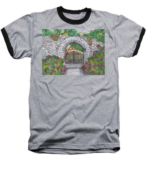 Private Garden At Sunset Baseball T-Shirt