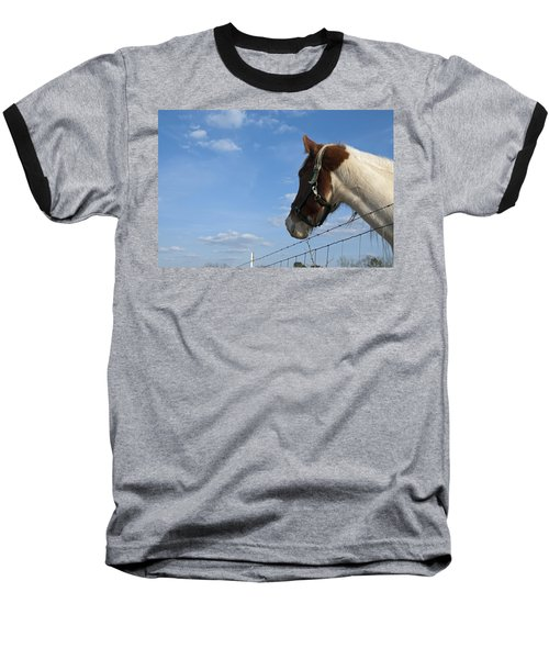 Baseball T-Shirt featuring the photograph Profile Of A Horse by Charles Beeler