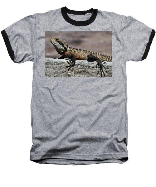 Baseball T-Shirt featuring the photograph Profile Of A Waterdragon by Miroslava Jurcik