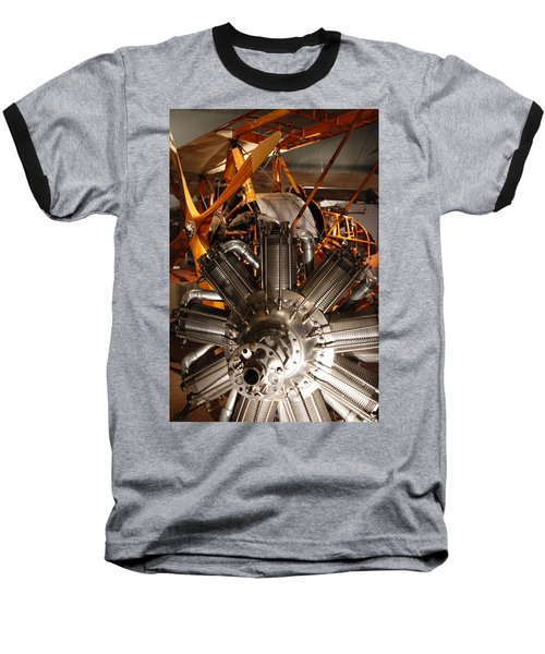 Prop Plane Engine Illuminated Baseball T-Shirt
