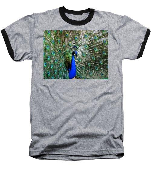 Proud Peacock Baseball T-Shirt