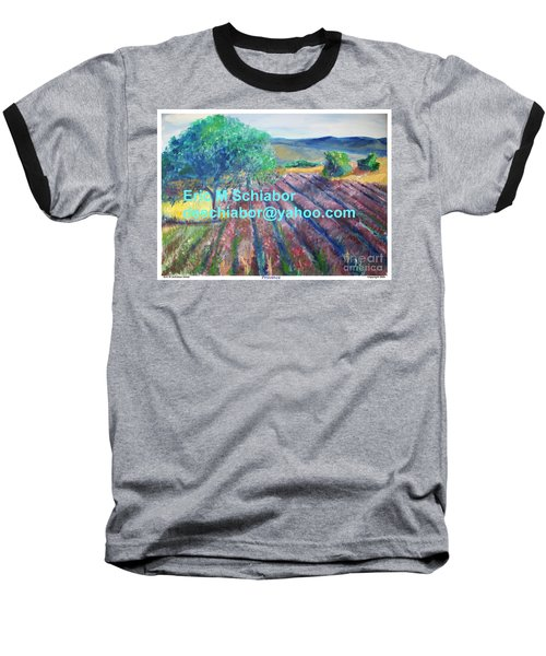 Provence Lavender Field Baseball T-Shirt by Eric  Schiabor