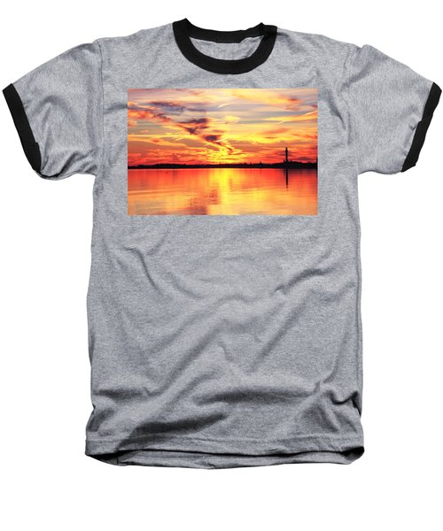 Baseball T-Shirt featuring the photograph Provincetown Harbor Sunset by Roupen  Baker