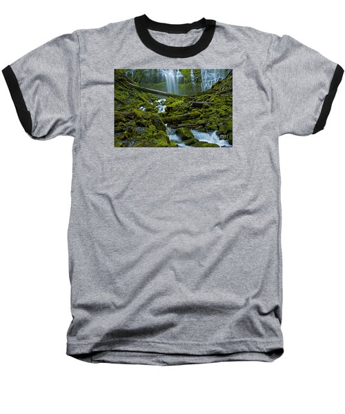 Baseball T-Shirt featuring the photograph Proxy Falls by Nick  Boren