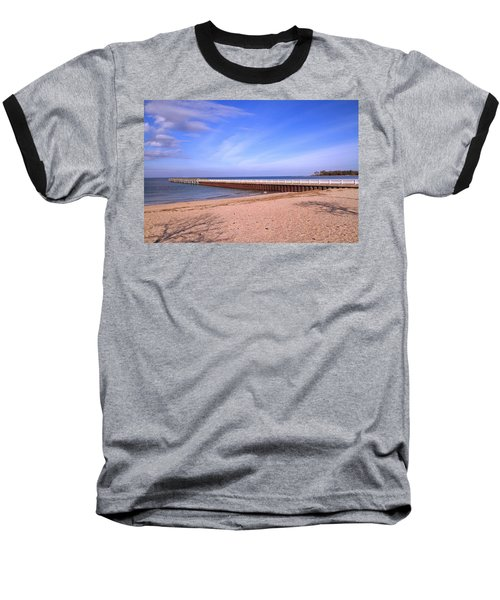 Prybil Beach Pier Baseball T-Shirt