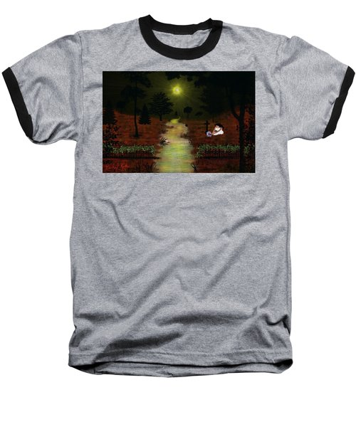 Baseball T-Shirt featuring the digital art Psalm 23  by Michael Rucker