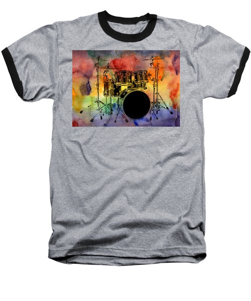 Psychedelic Drum Set Baseball T-Shirt