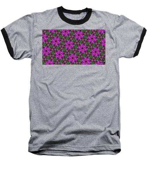 Baseball T-Shirt featuring the digital art Psychedelic Pink by Elizabeth McTaggart